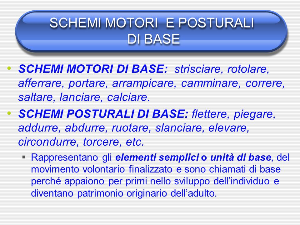 schemi motori di base