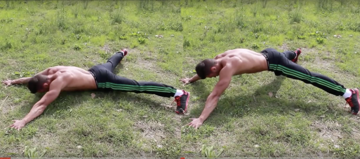 superhero push up