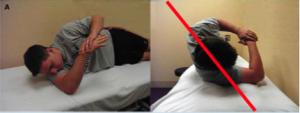 Stretching capsula spalla da sdraiato
