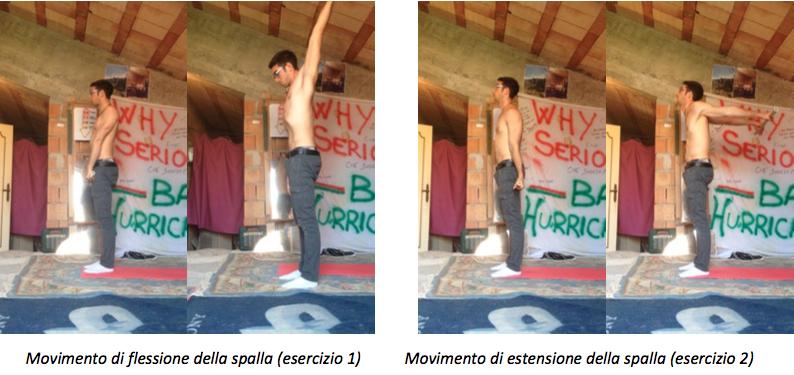 Dislocazione spalla in flessione ed estensione