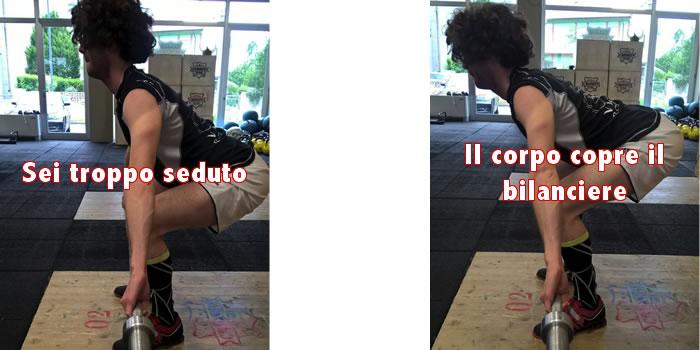 Posizione spalle bilanciere weightlifting