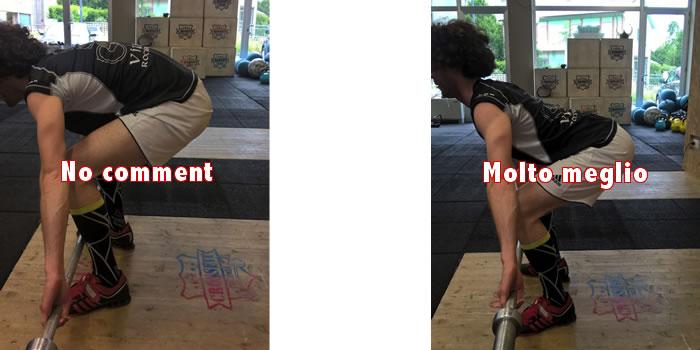 Postura nel sollevamento pesi