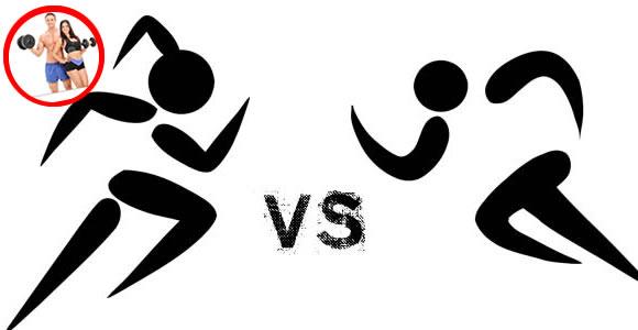 Attività fisica uomoni contro donne