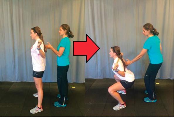 Adduzzione scapole squat