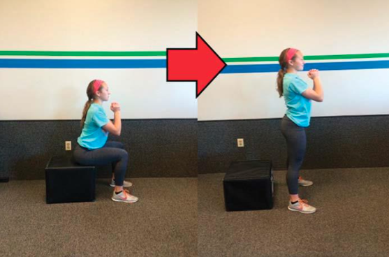 Box squat 3