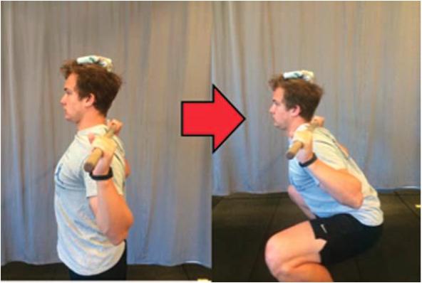 Esercizi collo squat