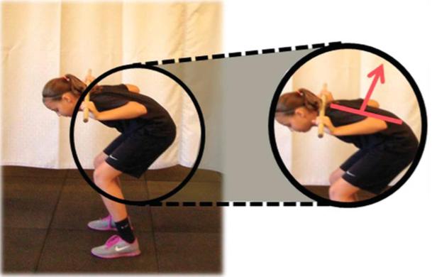 Fase scorretta di risalita nello squat