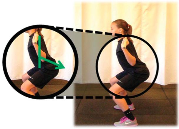 Posizione corertta discesa squat