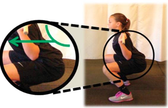 Posizione corretta anche squat