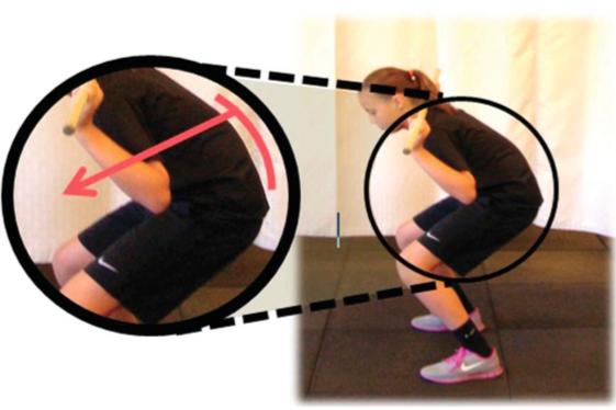 Posizione scorretta anche squat
