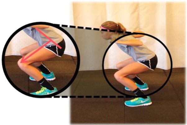 Posizione scorretta discesa squat