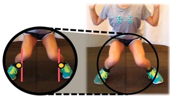 Posizione scorretta squat ginocchia