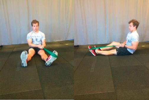 Stretcing caviglia