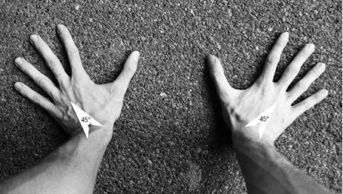 Mani nel V-sit