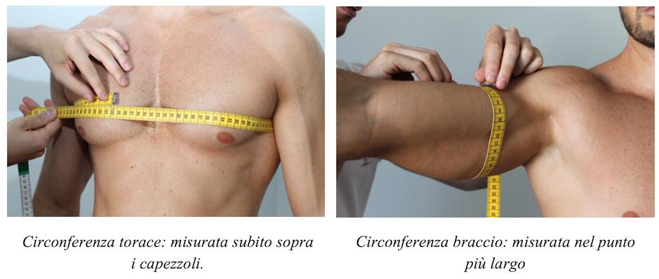 Circonferenza torace braccio