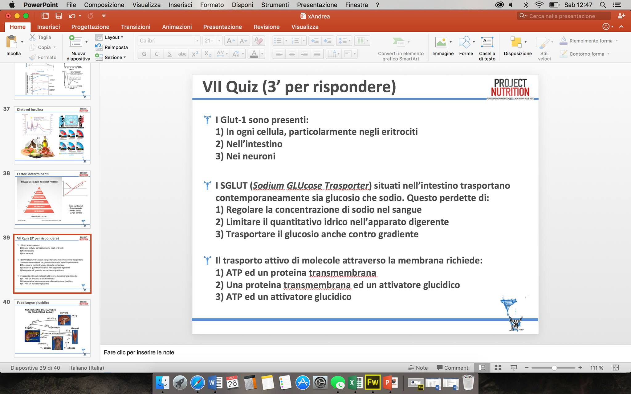 Slide project nutrition
