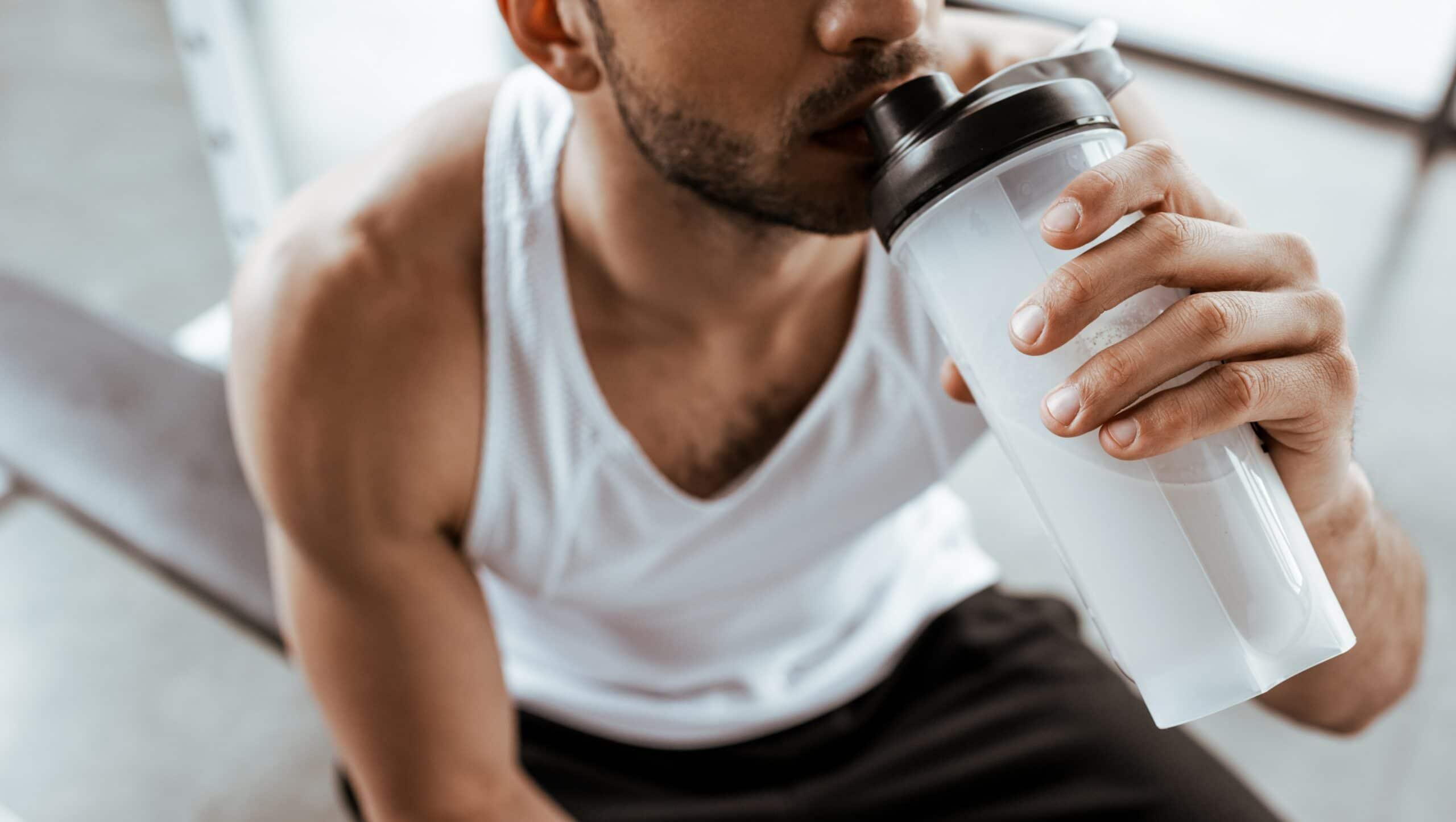 latte per palestra e bodybuilding per aumento massa muscolare