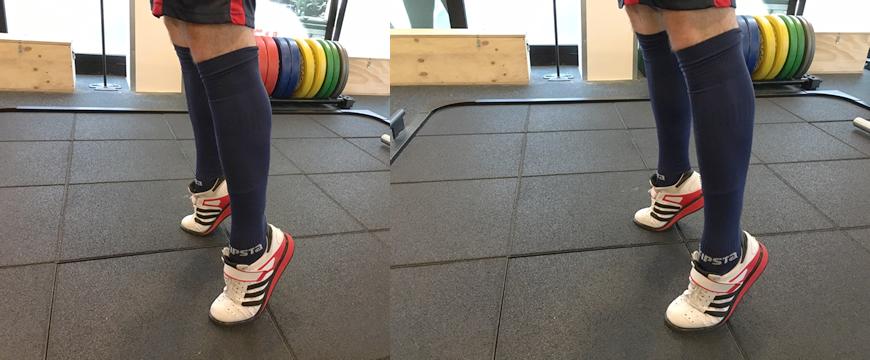sollevamento olimpico piedi