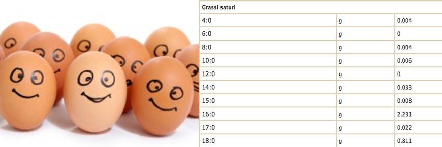 colesterolo grassi uova