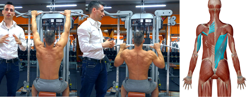 Lat machine presa stretta