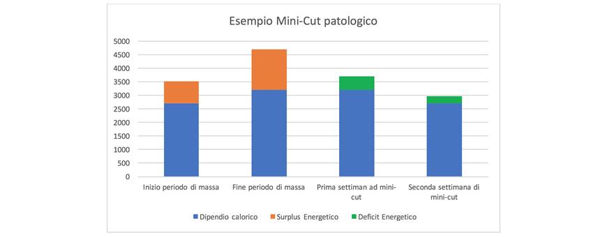 grafico fase di massa mini cut patologico