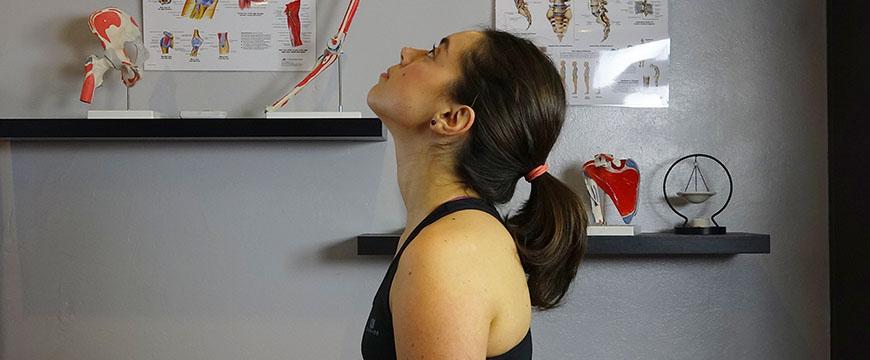 esercizio cervicale