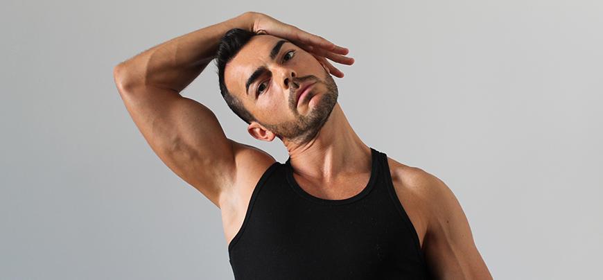 stretching trapezio