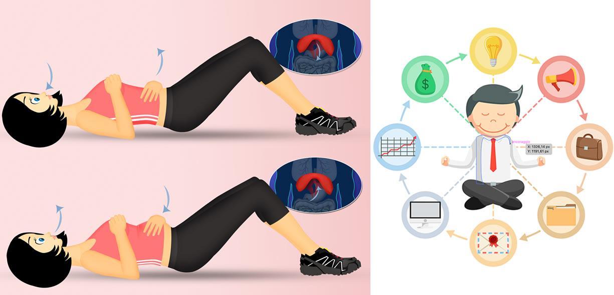 esercizi respirazione diaframmatica