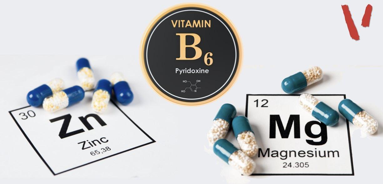 Composizione ZMA zinco, magnesio, vitamina B6