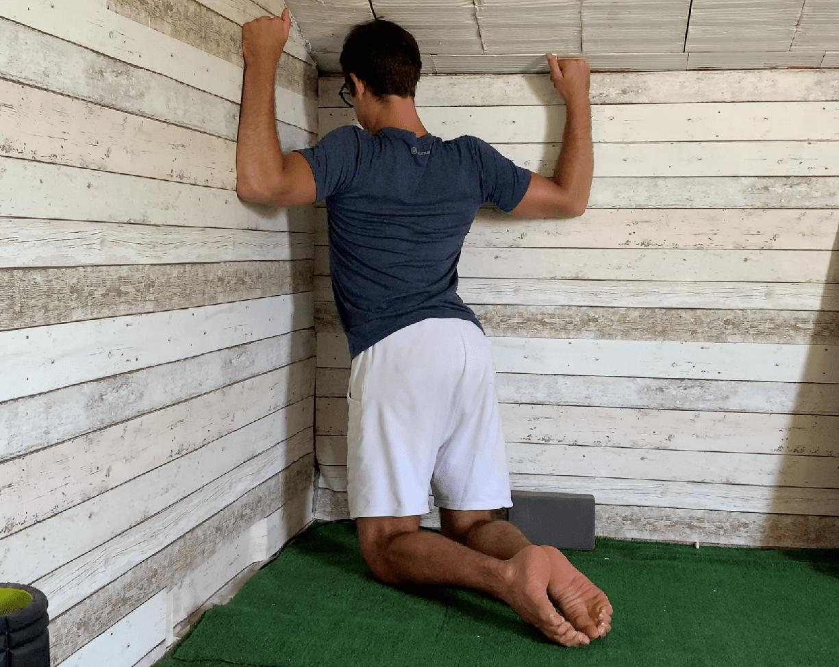 Esercizi stretching petto
