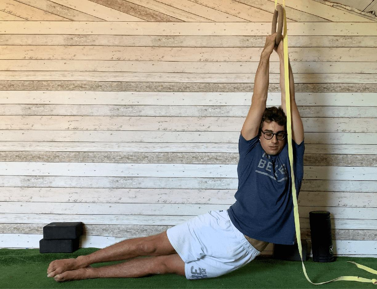 Esercizio stretching dorsale