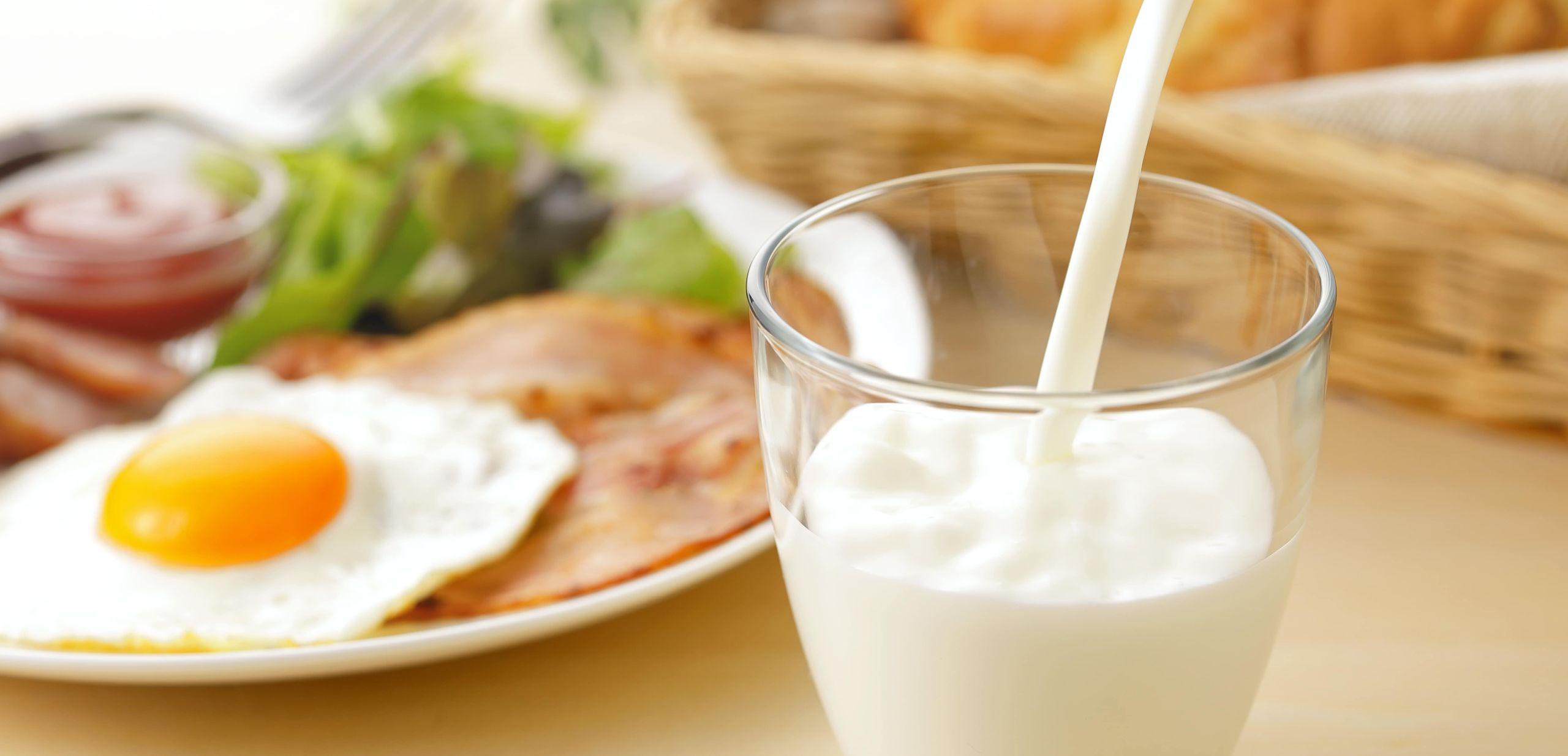 Colazione con il latte per perdere peso