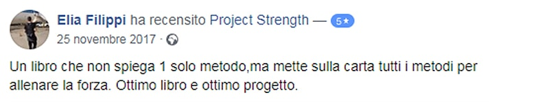 Project Strength facebook recensione