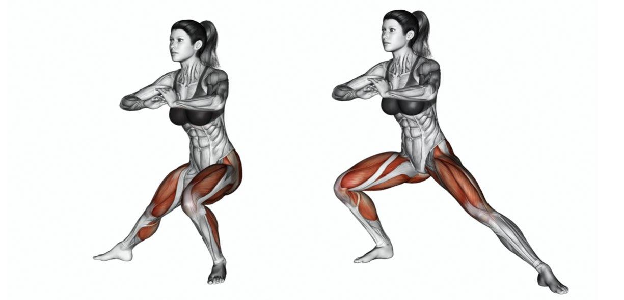 muscoli affondi laterali
