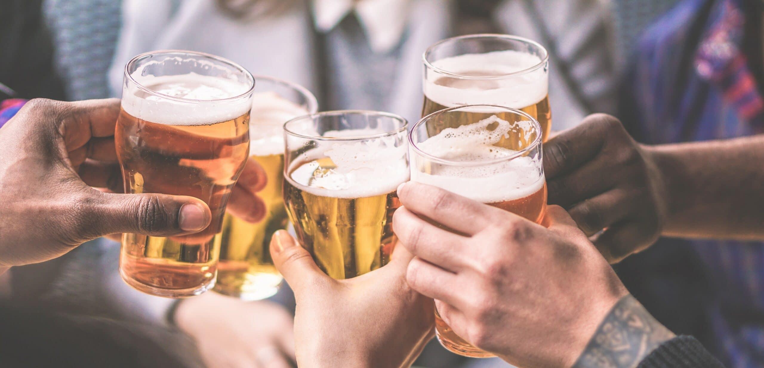 alcol birra per la palestra