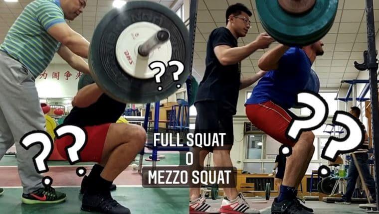 full squat o mezzo squat